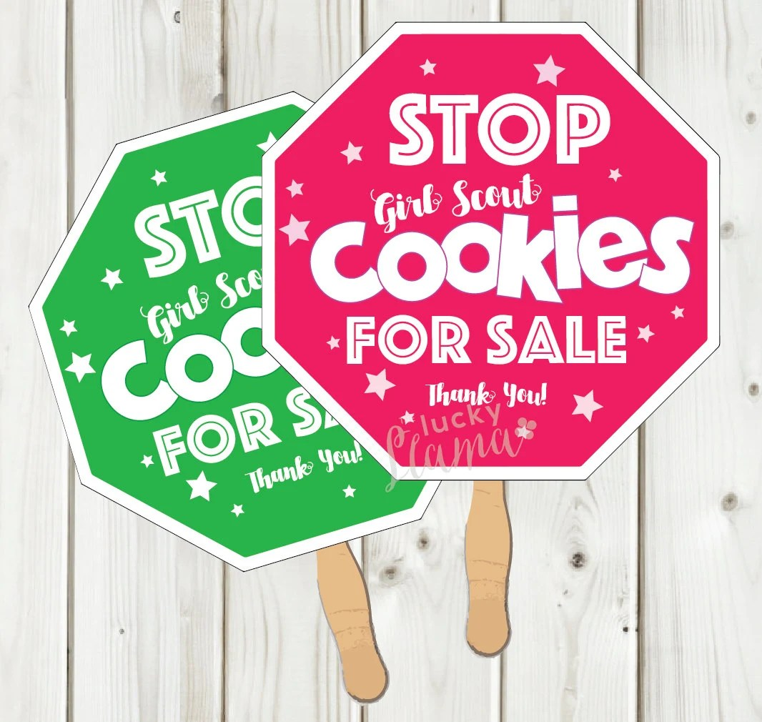 Girl Scout Cookie Stop Sign Printable Instant Download