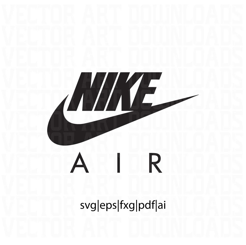 Download Nike Air Logo Inspired Vector Art svg dxf fxg eps pdf ai