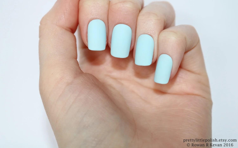 matte pastel blue short square