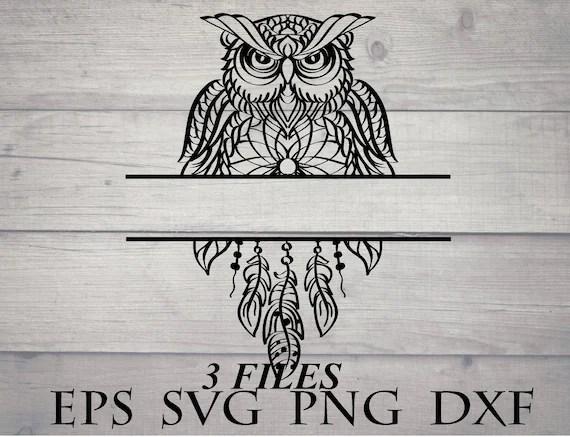 Download Dreamcatcher owl svg / mandala owl svg - owl zentangle ...
