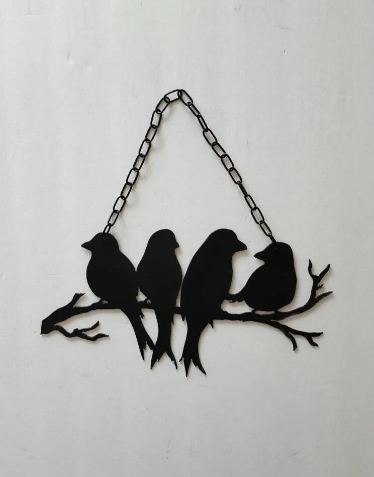 Metal Wall Art Black Metal Birds Bird Decor Bird Wall | iltribuno.com