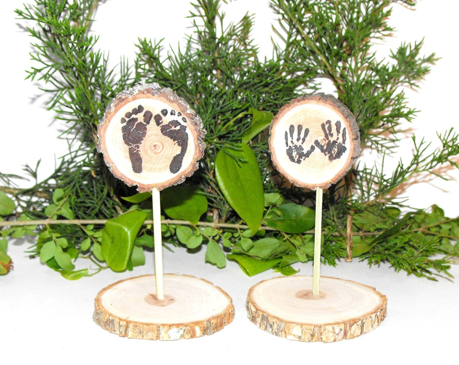 Woodland Baby Shower Decorations Tiny Feet & Hands