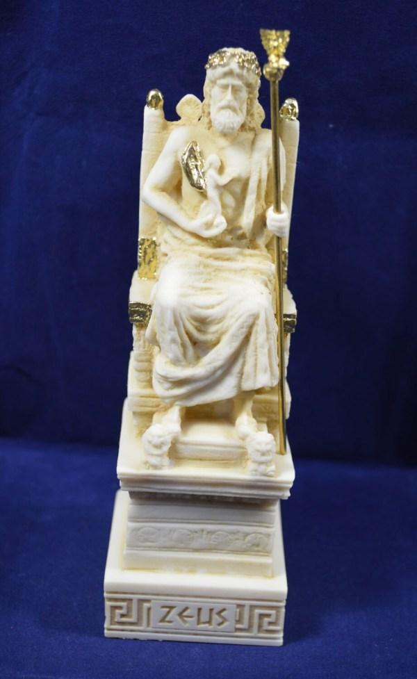 Zeus Sculpture Throne Statue Ancient Greek God King Of