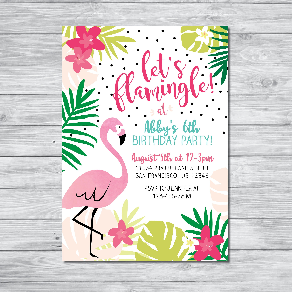Printable Invitations Pool Party