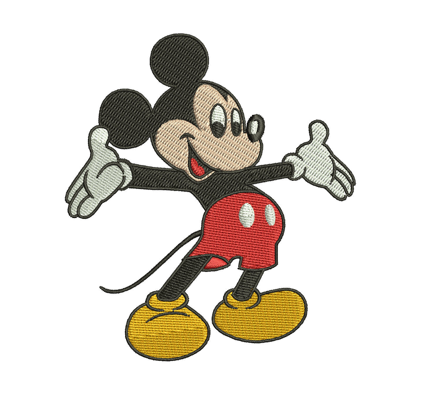 Mickey Mouse Full Filled Embroidery Design Walt Disney