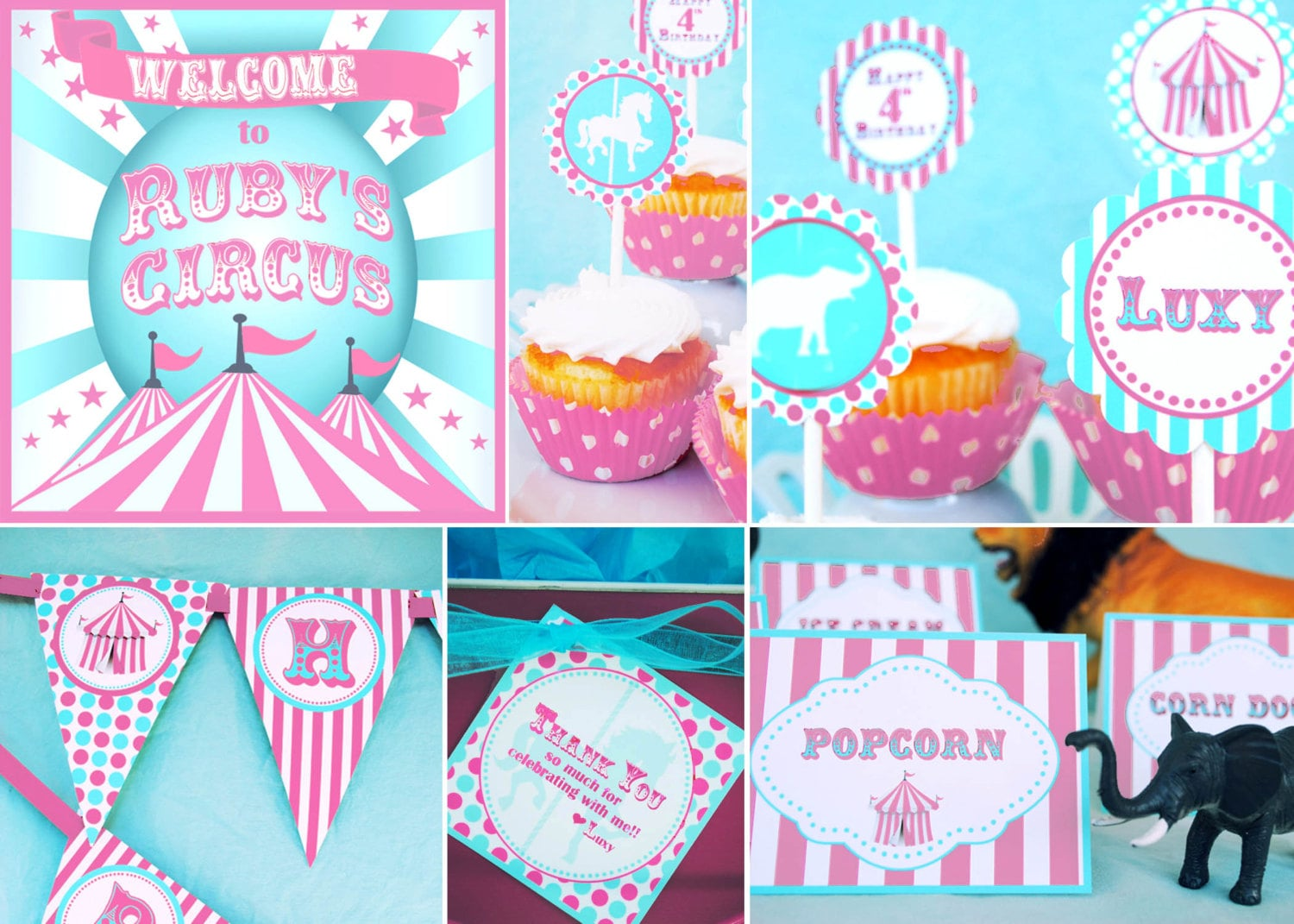 Circus Party Decorations Carnival Decorations Huge Party Set