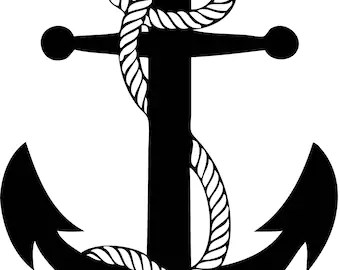 Download Digital Cut File INFINITY ROPE Anchor SVG Silhouette
