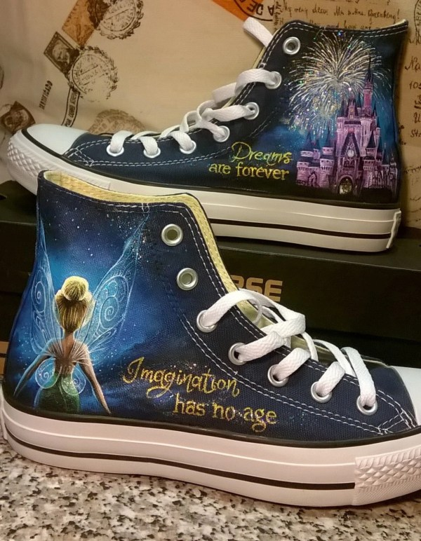 83f3d14cbc5d7 Disney Hand Painted Shoes Tinkerbell - Year of Clean Water