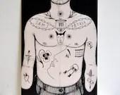 A3 Tattooed Chest Torso B...
