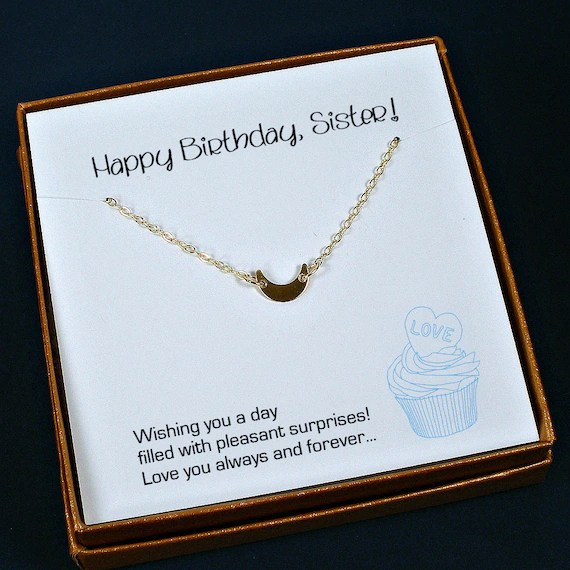 Items Similar To Sister Birthday Gift Sister Necklace