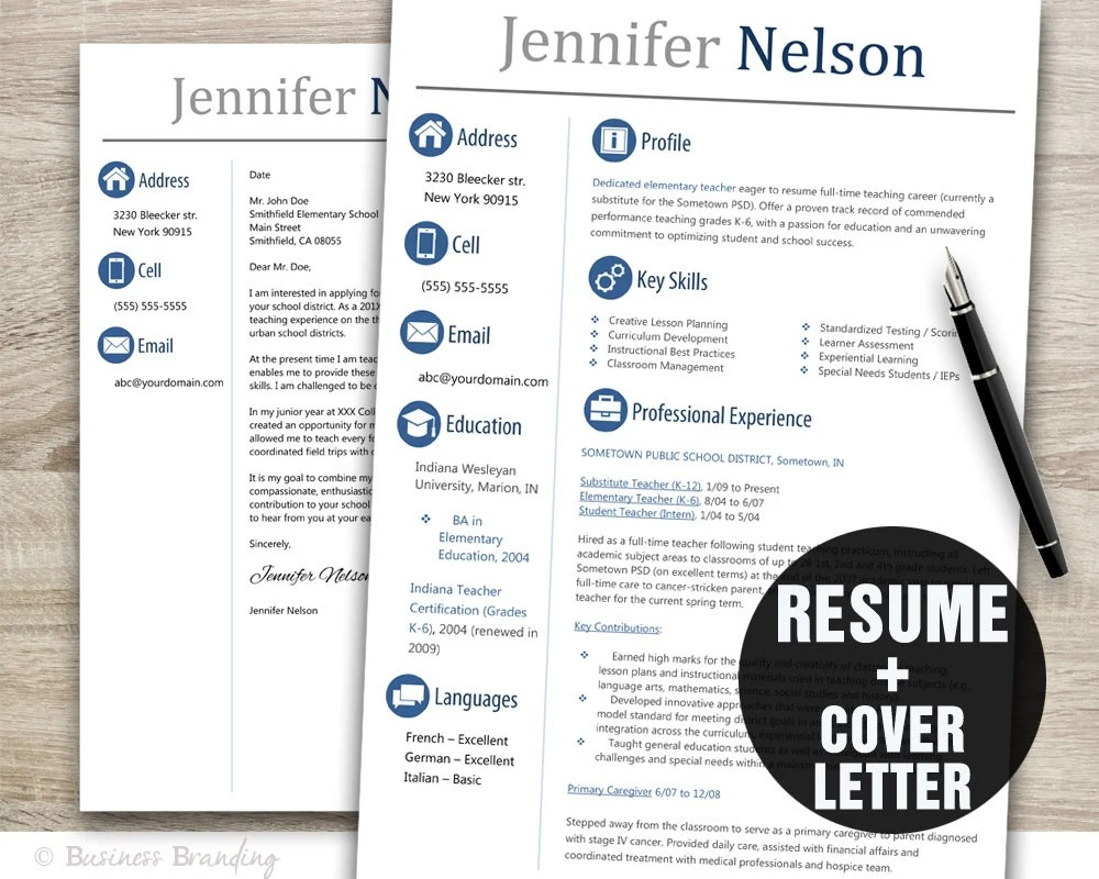free resume template for teachers to download - Fast.lunchrock.co