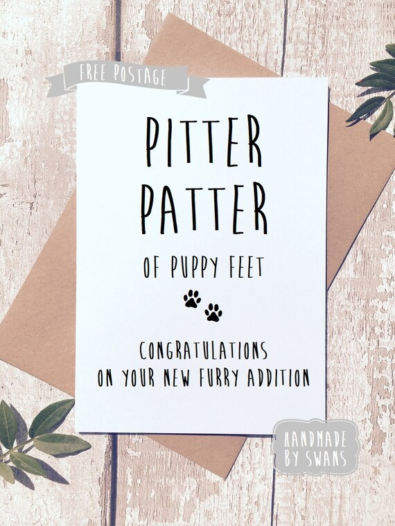 Funny new puppy card congratulations card for furr baby dog
