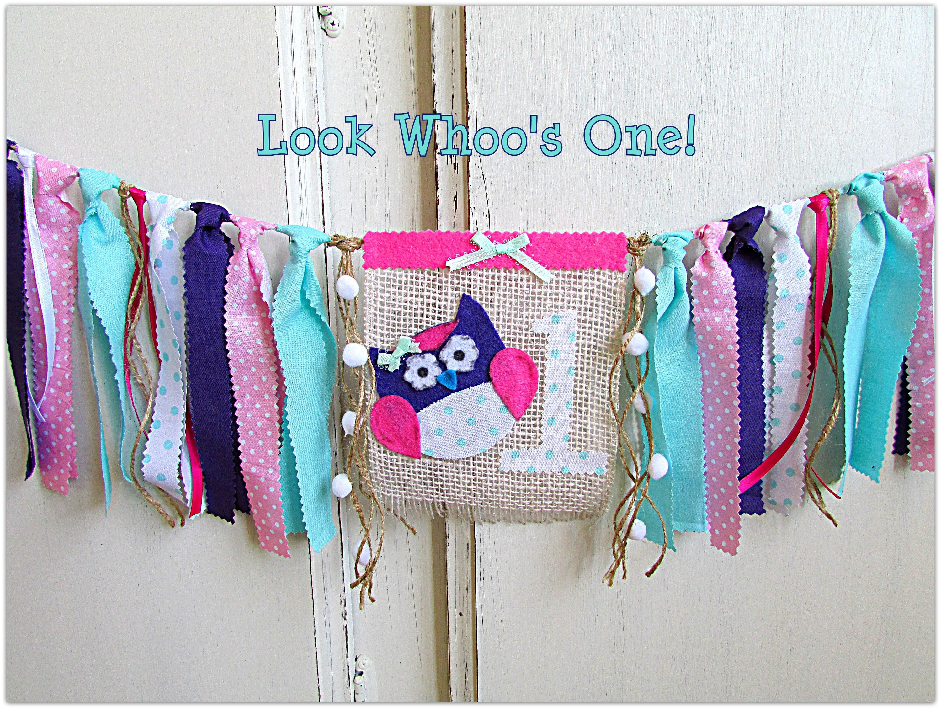 Owl High Chair Owl Birthday Banner Owl High Chair Banner Owl First