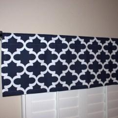 Blue Kitchen Valance Moen High Arc Faucet Richloom Ampersand Cobalt Curtain Curtains Navy Window 50x16