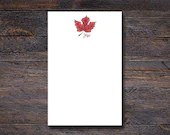Maple Leaf Notepad - Cust...