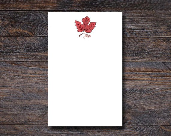 Maple Leaf Notepad