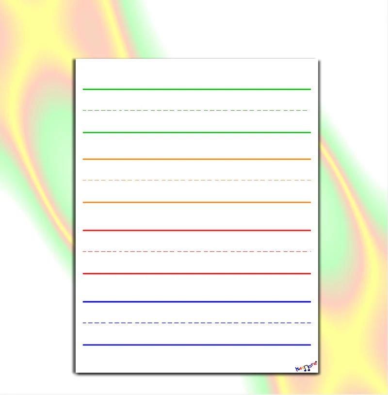 writing lines for kindergarten