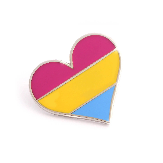 pansexual pride pin gay lapel