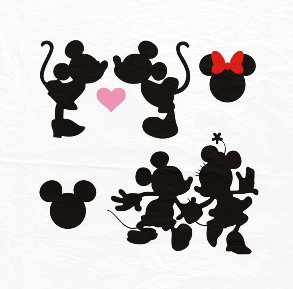 Download Minnie Mickey Kiss SVG Kiss svg Minnie Mickey Love SVG