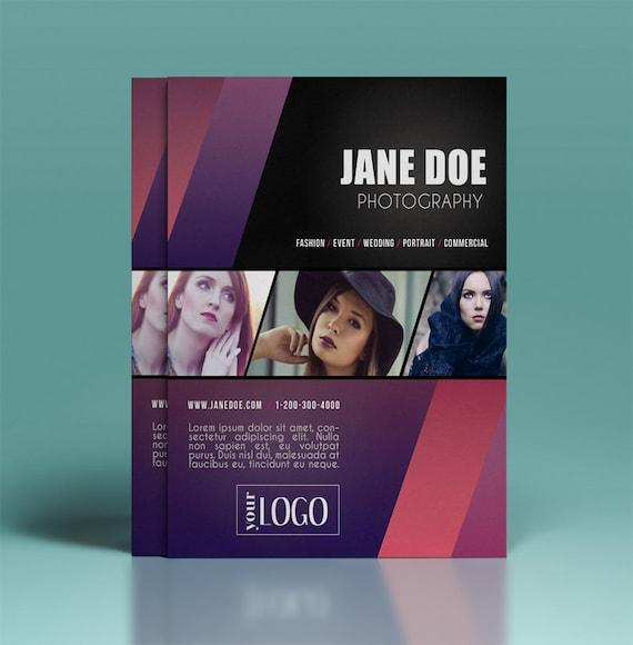 Photography flyer template elegant promotional flyer design