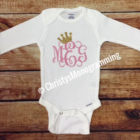 monogrammed baby clothes etsy