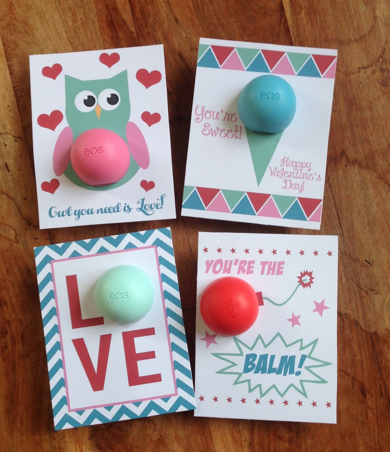 Valentine S Day Cards T Tags For Eos Lip Balm