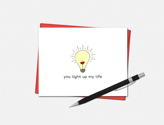 You Light Up My Life - Valentine's Day Cards