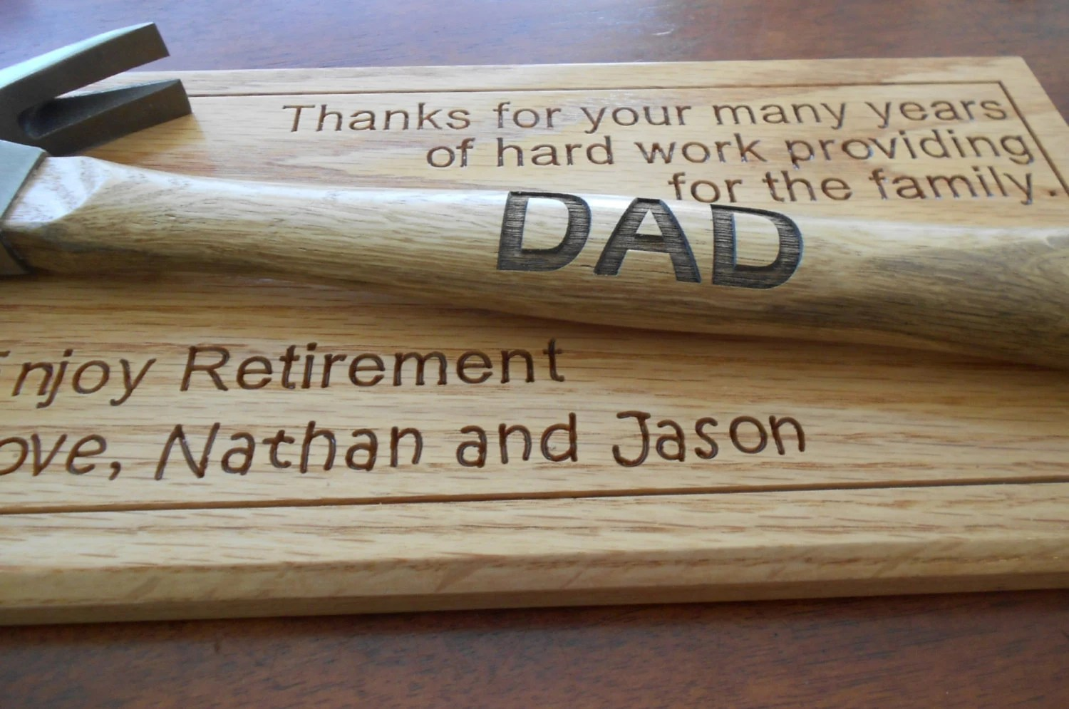 Personalized Laser Engraved Hammer Father S Day Retirement