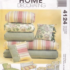 Sewing Patterns For Patio Chair Cushions Cover Rentals Uk Outdoor Bench Cushion Etsy Free Us Ship Mccalls 4124 Pattern Furniture Pillows Chaise Lounge Rattan Wicker Footstool New Ff