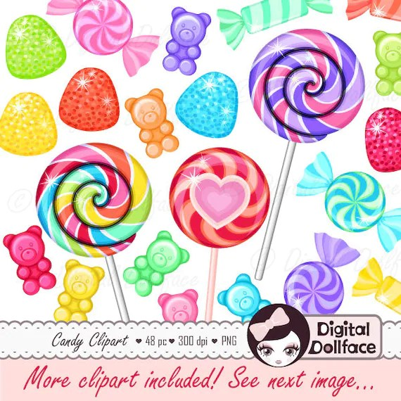 rainbow candy clipart sweet