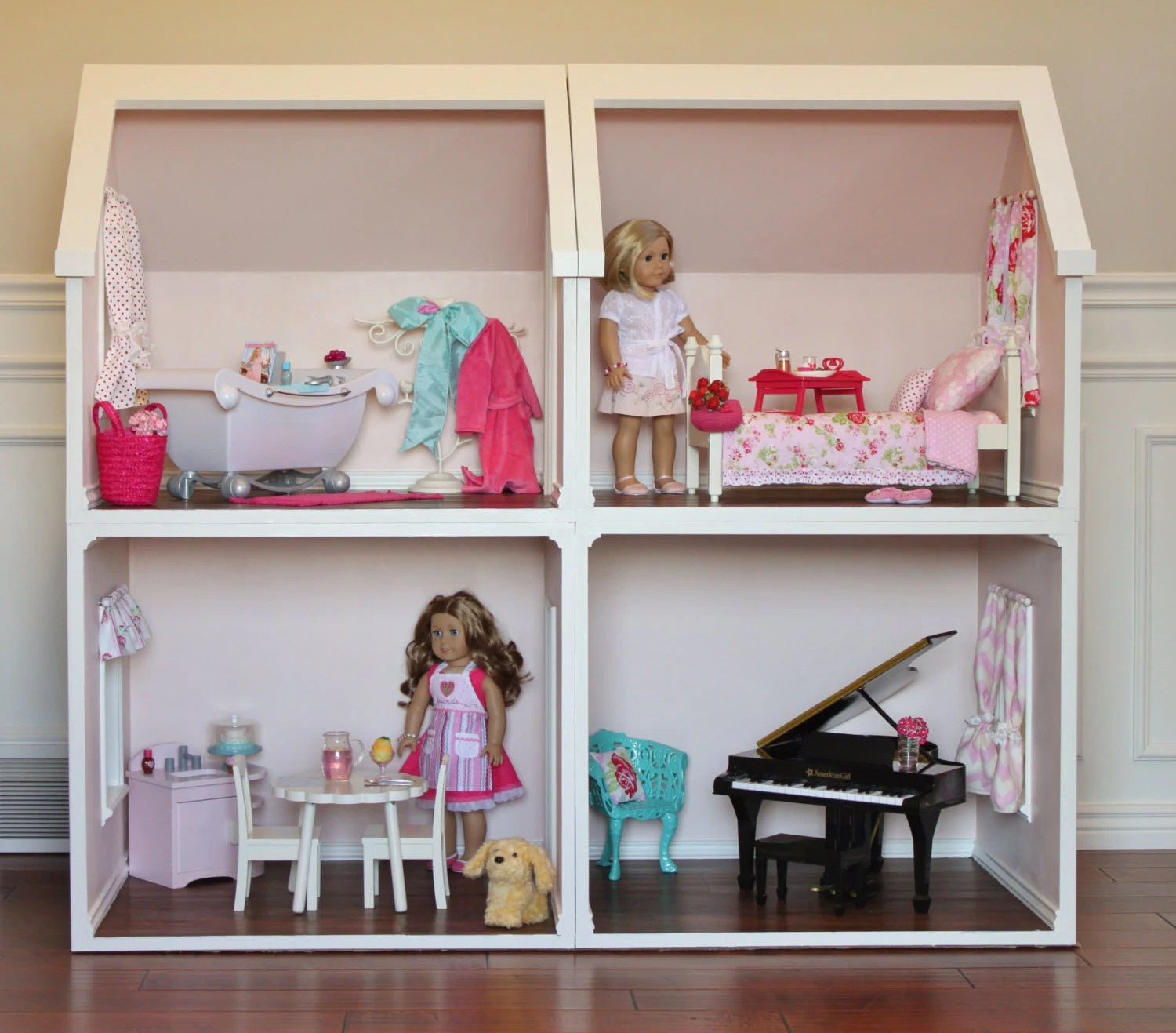 Doll House Plans For American Girl Or 18 Inch Dolls One Room