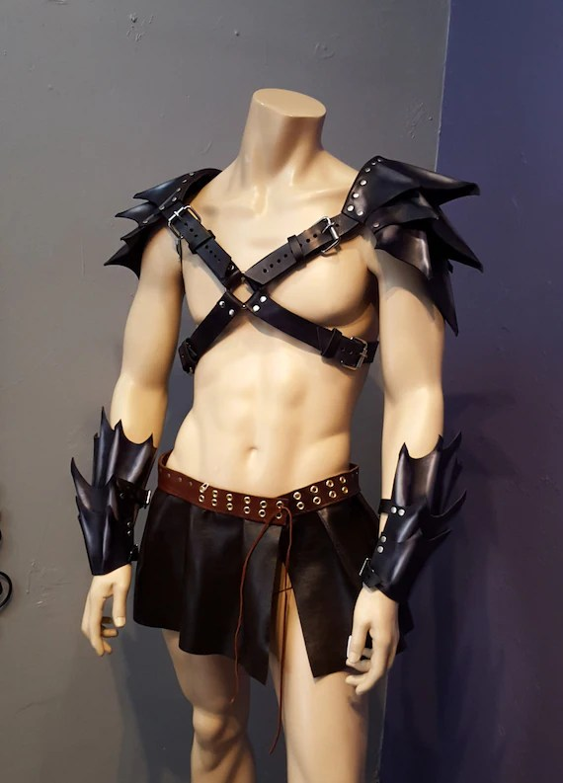 Custom Leather Arm Guards