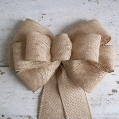 Burlap Bows For Wedding Chairs Folding Chair Covers Bulk Bow Pew Rustic Decoration Wreath