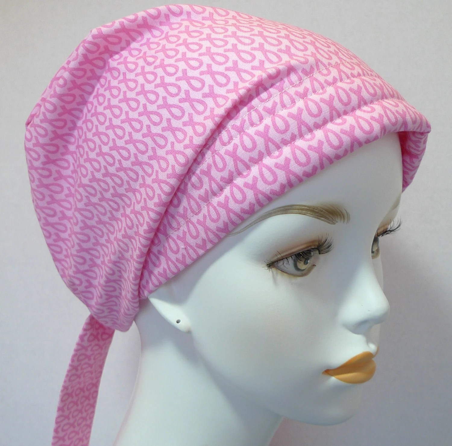 breast cancer pink ribbon hat chemo
