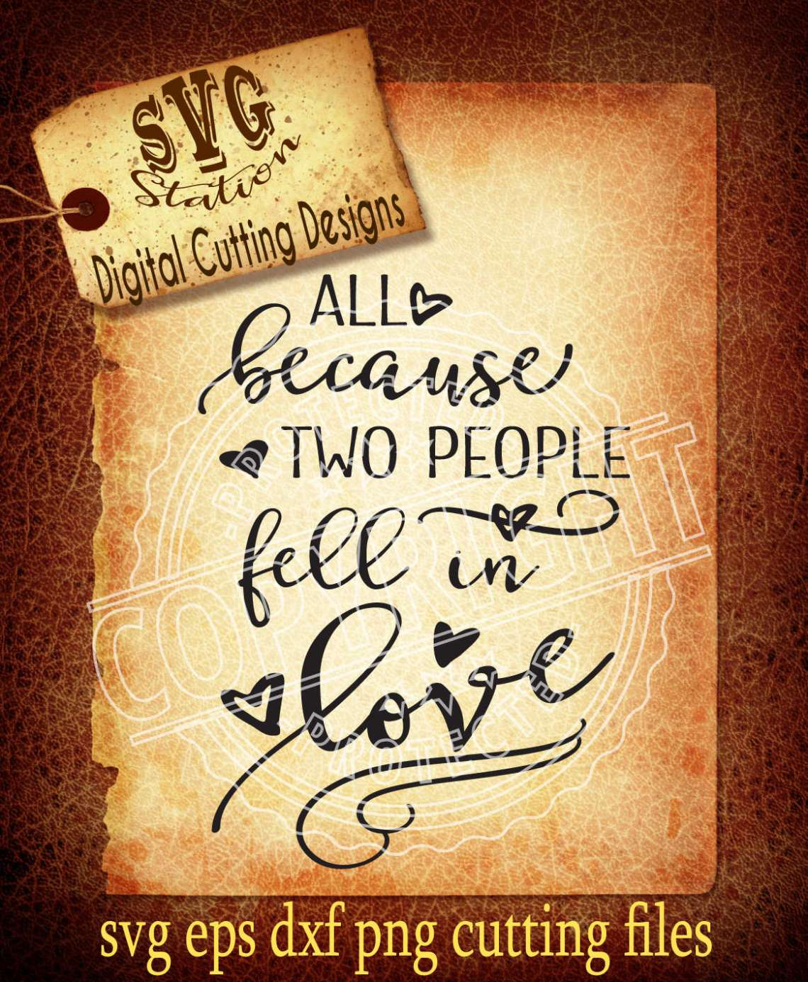 Download All Because Two People Fell In Love Svg Love svg Heart SVG DXF