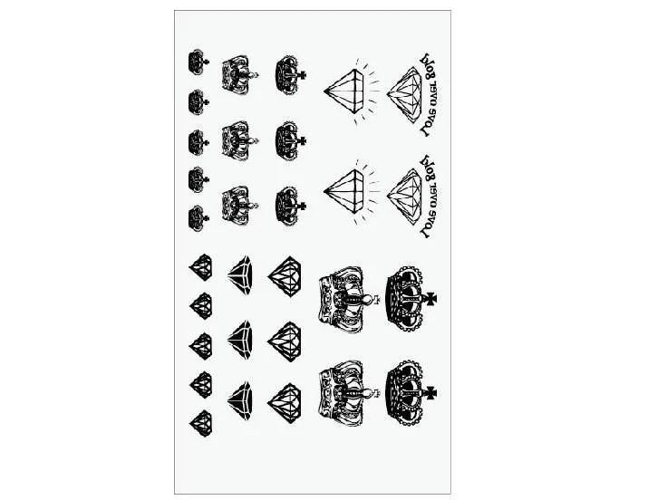 Fashion Mini crown tattoo stickers cute tattoo design diamond