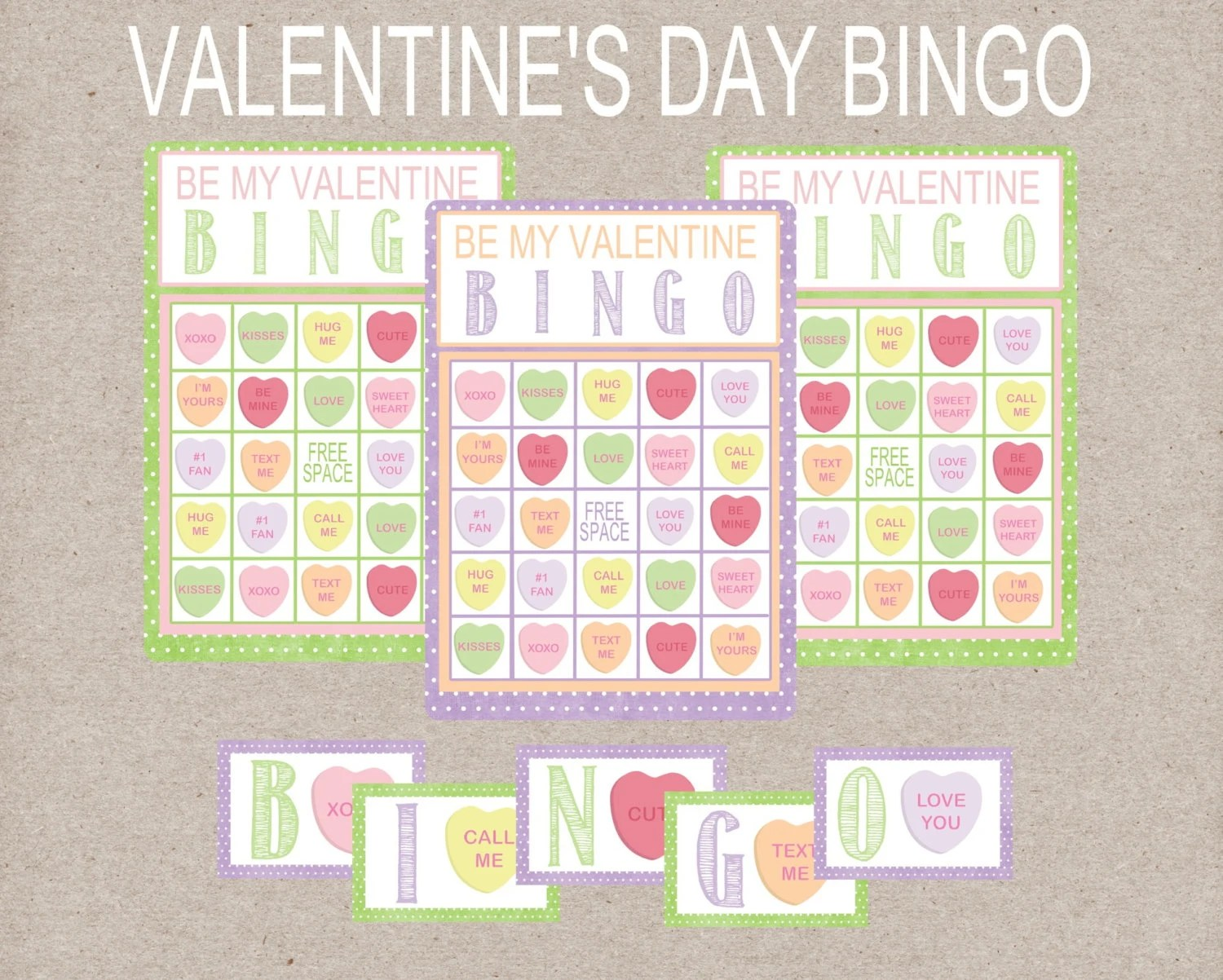 Deluxe Valentine S Day Bingo Game Conversation Heart