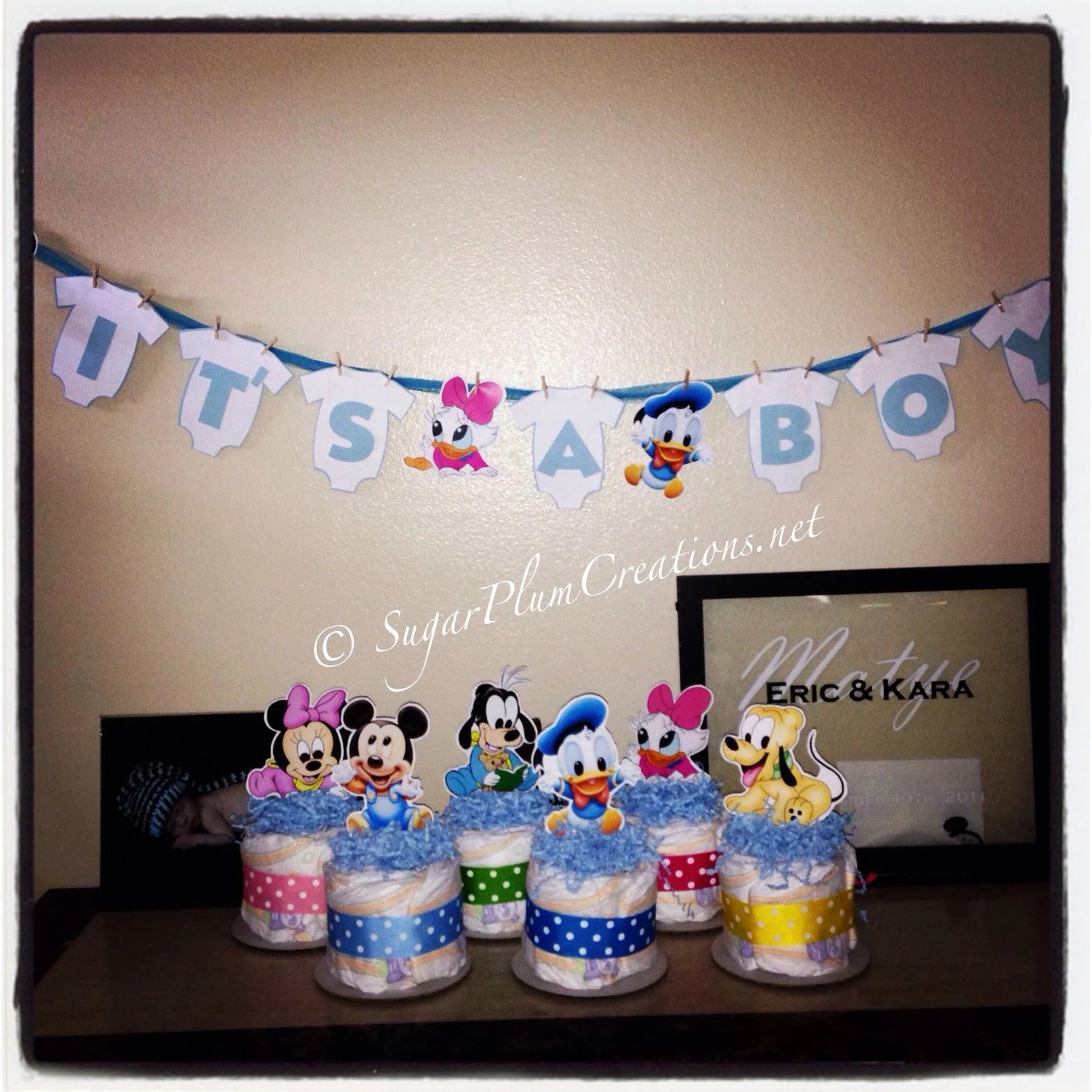 Character Baby Shower Diaper Cakes