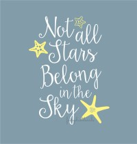 Starfish wall decal not all stars quote vinyl lettering