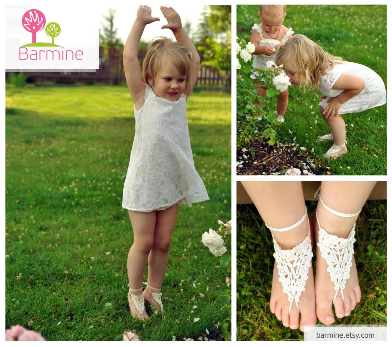 Little Girls Barefoot Sandals