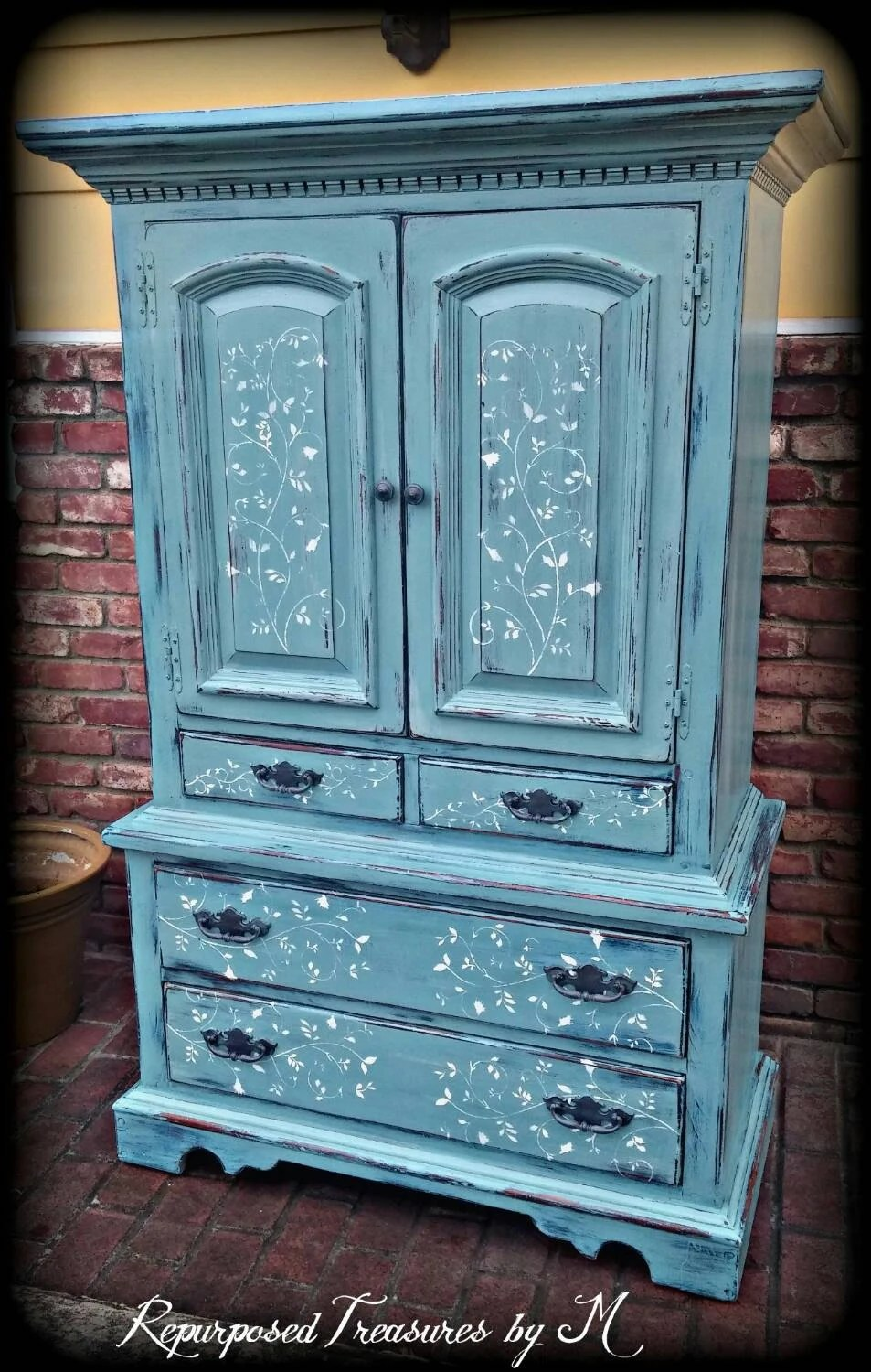 SOLD SOLD Vintage armoire blue armoire childrens