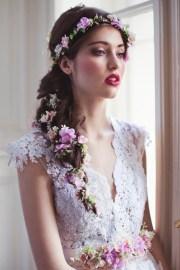flower hair garland wedding