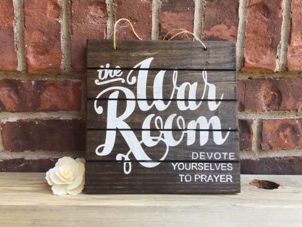 Prayer Room Ideas Sign - Year of Clean Water