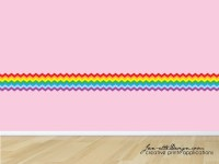 Rainbow Wall Decal Pastel Rainbow Fabric Wall Sticker
