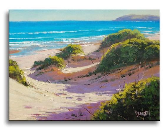 realistic beach painting sand dune