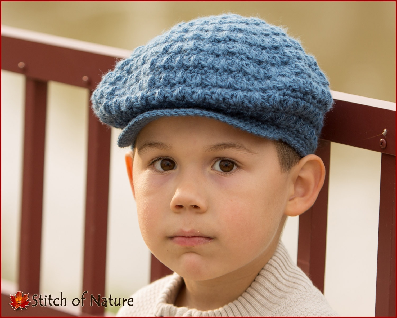 Crochet Pattern Collins Scally Cap Hat Girls