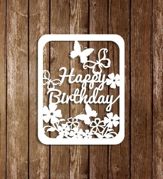 Download Paper Cutting Template Birtgday Card Birthday Template