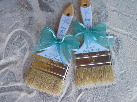 Custom Sand Brushes For Beach Weddings Favors Or Promotional