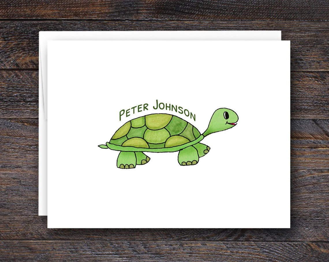 Personalized Turtle Notec...
