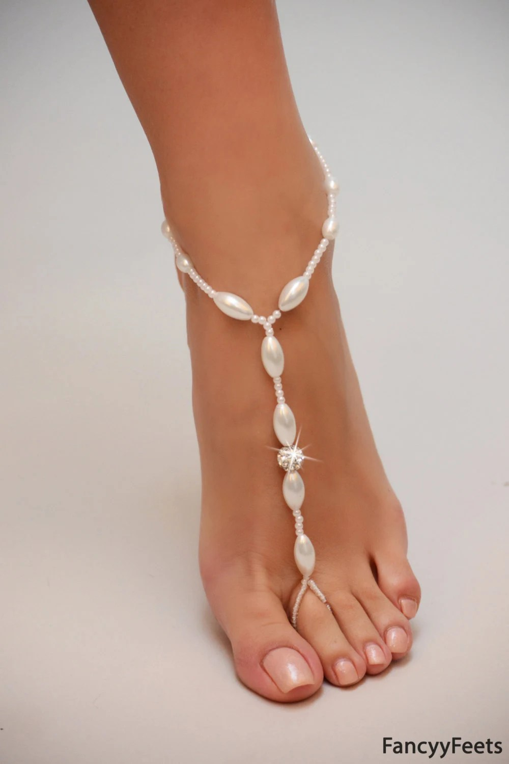 Barefoot Sandals Beaded Beach Wedding